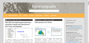 Screenshot der Seite digital-geography.com