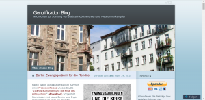Screenshot von https://gentrificationblog.wordpress.com/ am 16.08.2015