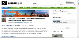 Screenshot von http://scienceblogs.de/geograffitico/ vom 16.08.2015