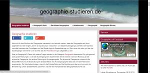 Screenshot von www.geographie-studieren.de vom 16.08.2015