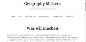 Screenshot von http://www.geography-matters.de/home/ am 16.08.2015