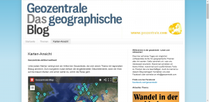 Screenshot von http://geozentrale.blogspot.de/ vom 16.08.2015